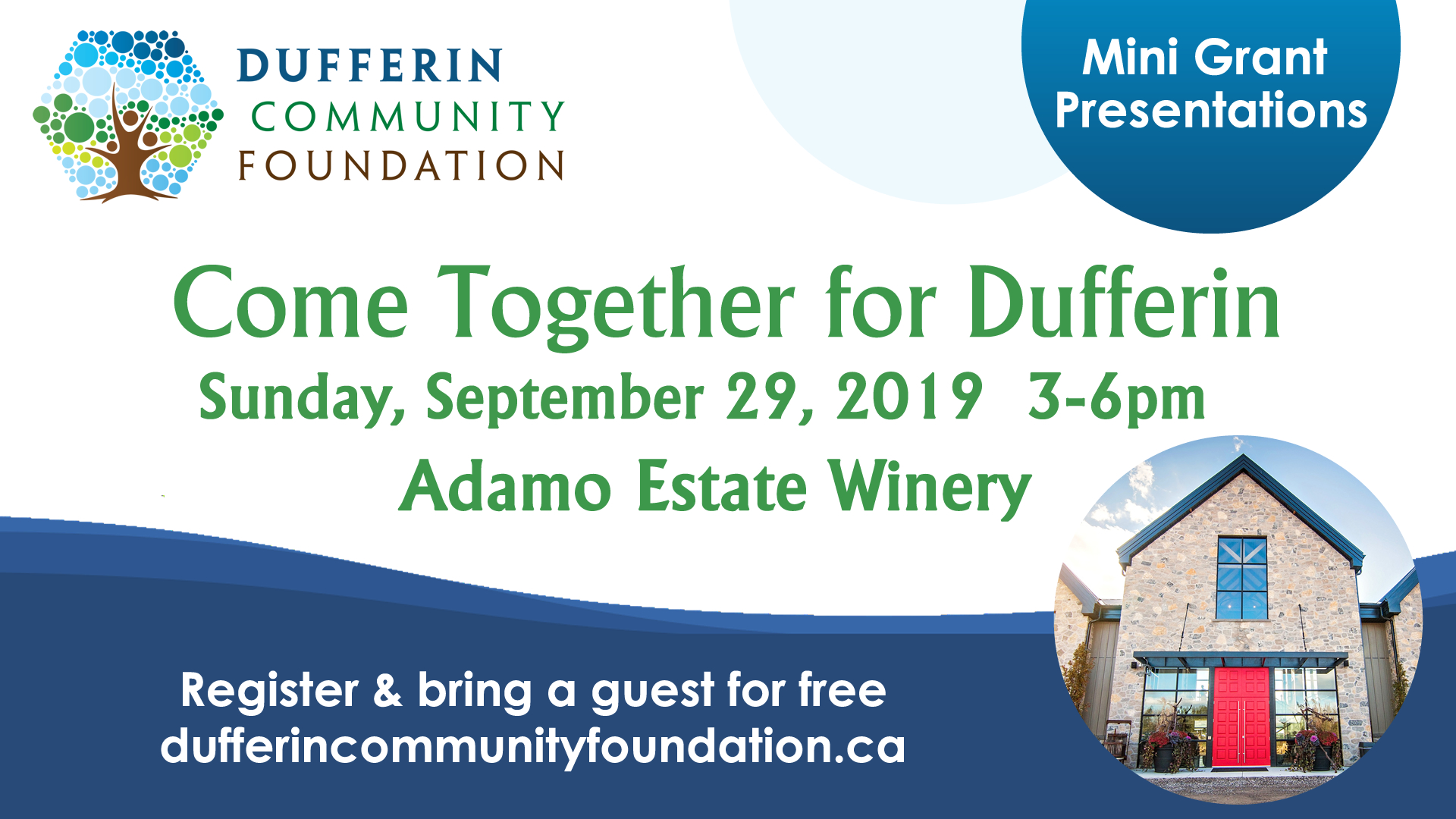 Come together for Dufferin event Sept 29/19